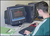 CAD operator at desk